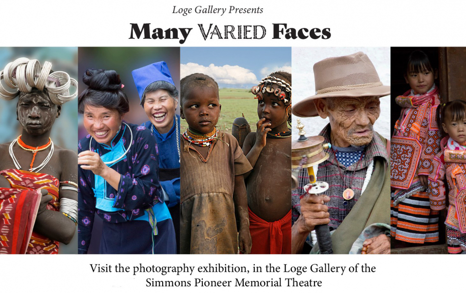 Many Varied Faces Exhibit at Pioneer Theatre
